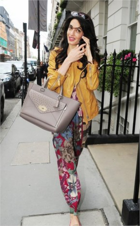 Amal Alamuddin goes for a fitting at alexander mcqueen 21