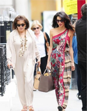 Amal Alamuddin Goes For a Fitting at Alexander McQueen