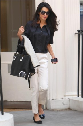 Amal Alamuddin in business casual