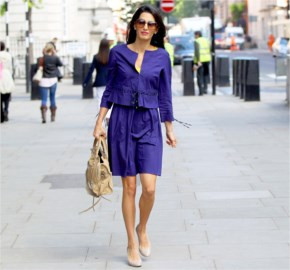 Amal Alamuddin Returns to Work in Business Suit