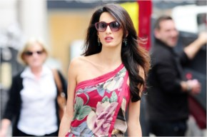 Amal Alamuddin spotted at McQueen ahead of wedding