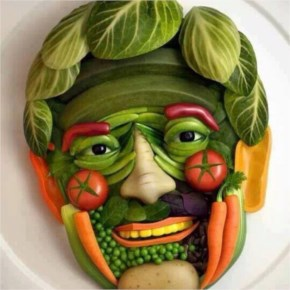 Amazing Funny vegetables Art Face