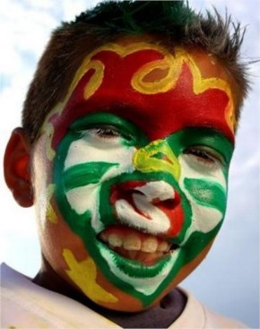 An avid fan of Mexican fifa world cup 2014 Football Team