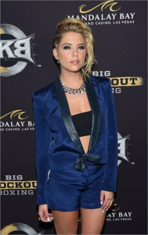 Ashley Benson – Big Knockout Boxing Inaugural Event in Vegas