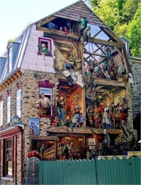 Awesome 3d Painting On The Side-Wall Of A House