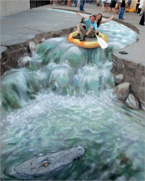 Awesome 3d River Steer Art