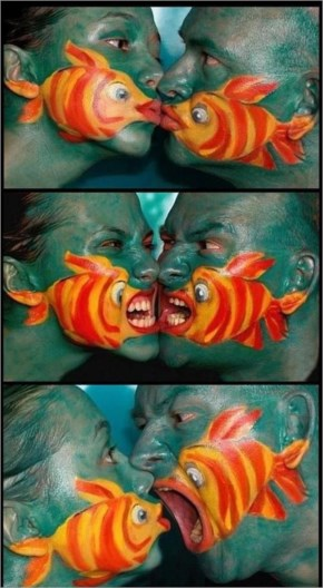 Awesome funny face painting