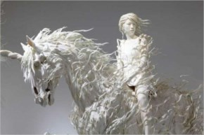 Awesome Sculpture Art By Odani Motohiko - Lady With Silver Horse