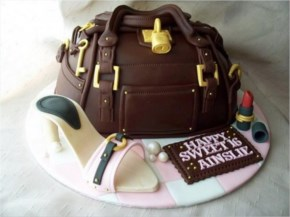 Bag Of Chocolate And Shoes Made Of White Chocolate And Dark Chocolate