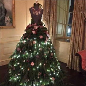 Beautiful Christmas Tree dresses-1