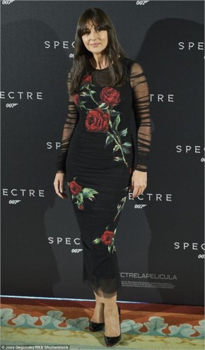 Blooming beautiful! Monica Bellucci looked incredible in her Dolce & Gabbana dress at the Spectre