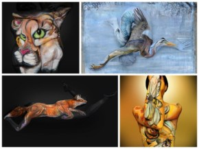 Body Painter Transforms Humans Into Breathtaking Portraits Of Animals