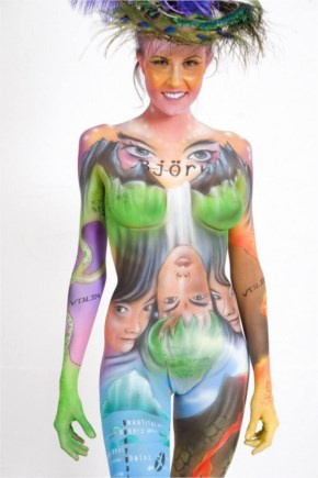 Body paintings by Nadja Hluchovsky