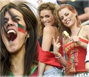 Brazil female football fans