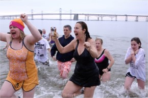 Annual Polar Bear Plunge with Canadian Girls