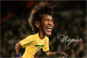 Caricature Neymar Brazil Team