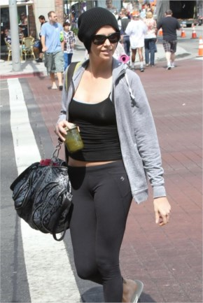 Charlize Theron Sexy Spandex Candids About Los Angeles