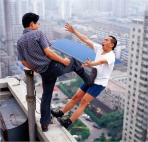 Chines Dangerous Reality Game Of Chance perfectly timed image