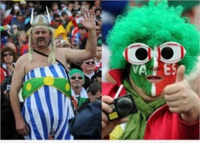 Colourful Rugby fifa World Cup 2014 Fans