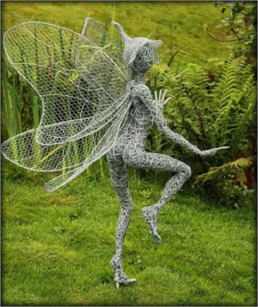 Creates Sculptures Of Winged Fairies Dancing In The Wind....Cheeky Back To The Gallery