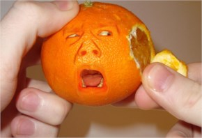 Creative Art Funny Picture Crying Orange