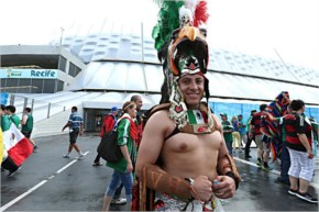 Croatia vs Mexico fans arrive for the 2014 FIFA World Cup