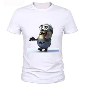 Customize-Solid T-shirt Men zombie Minions