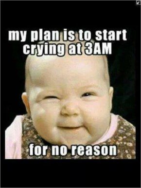 Cute Funny Baby Saying....My Plan Is To Start Crying At 3am For No Reason