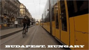 Cycling in Budapest, Hungary.