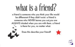 Defining Friend- What is a friend?