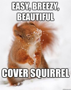 Easy Breezy Beautiful Funny Squirrel Snow Orange Hair Picture