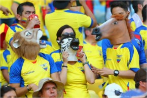 Ecuador fans enjoy the atmosphere 2014 FIFA World Cup Brazil