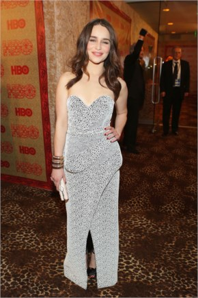 Emilia Clarke Style | Wears Proenza Schouler at HBO 2014 After Golden Globe Party
