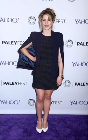 Emily Bett Rickards: 2015 PaleyFest Arrow and The Flash Event -01