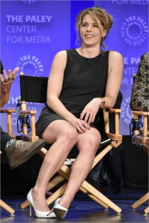 Emily Bett Rickards guesting at The Paley Center Arrow event for Paleyfest