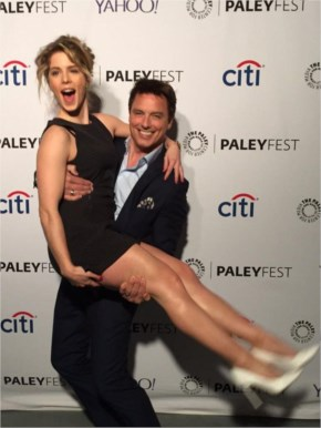 Emily Bett Rickards guesting at the paley center arrow event for paleyfest in hollywood