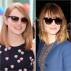 Emma Stone to switch up her look by adding blunt bangs new fringe