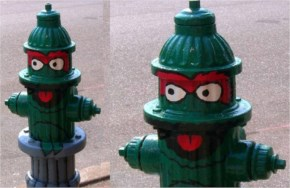 Examples of Art on Fire Hydrants