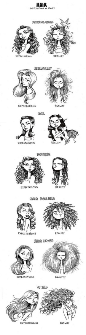 Expectation Vs. Reality Bad Hair Week