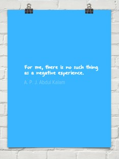 Experience, Negative