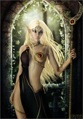 Fantasy Elf woman art