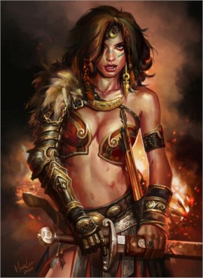 Fantasy warrior woman