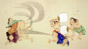 """Fart Battles"" were a popular art scrolls created in Japan during the Edo period."