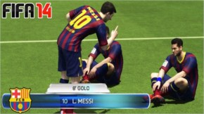 FIFA 14  MESSI FUNNY CELEBRATION