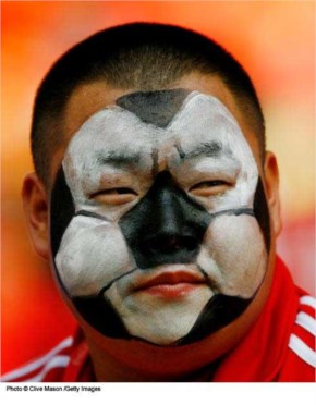 Fifa Fans come dressed in team or national colors and often face body art, face painting, fashion, football face painting