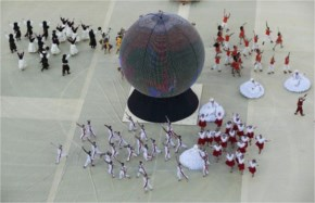 Fifa opening ceremony big ball reuters