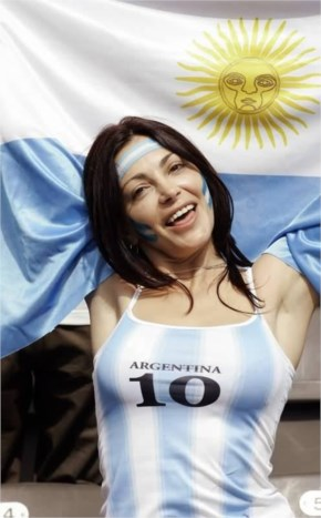 fifa world cup 2014 argentina flag brazil funny girl