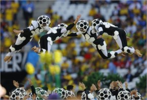FIfa world cup 2014 opening ceremony saw skilled performances which had high level of co-ordination, as evident in the image