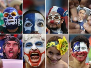 Fifa world cup Expressions faces of jubilant fans