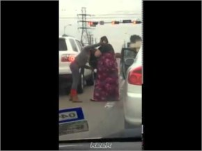 Fight between two beautiful ladies